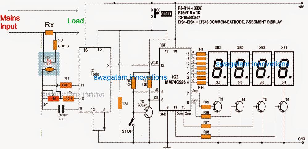 Marvelous Digital Power Meter Circuit Elektronines Schemos In 2019 Circuit Wiring 101 Jonihateforg