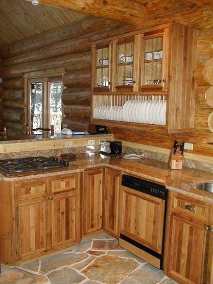 Wormy Chestnut Kitchen Huisman Concepts Barn Homes Log Cabinet Hardware