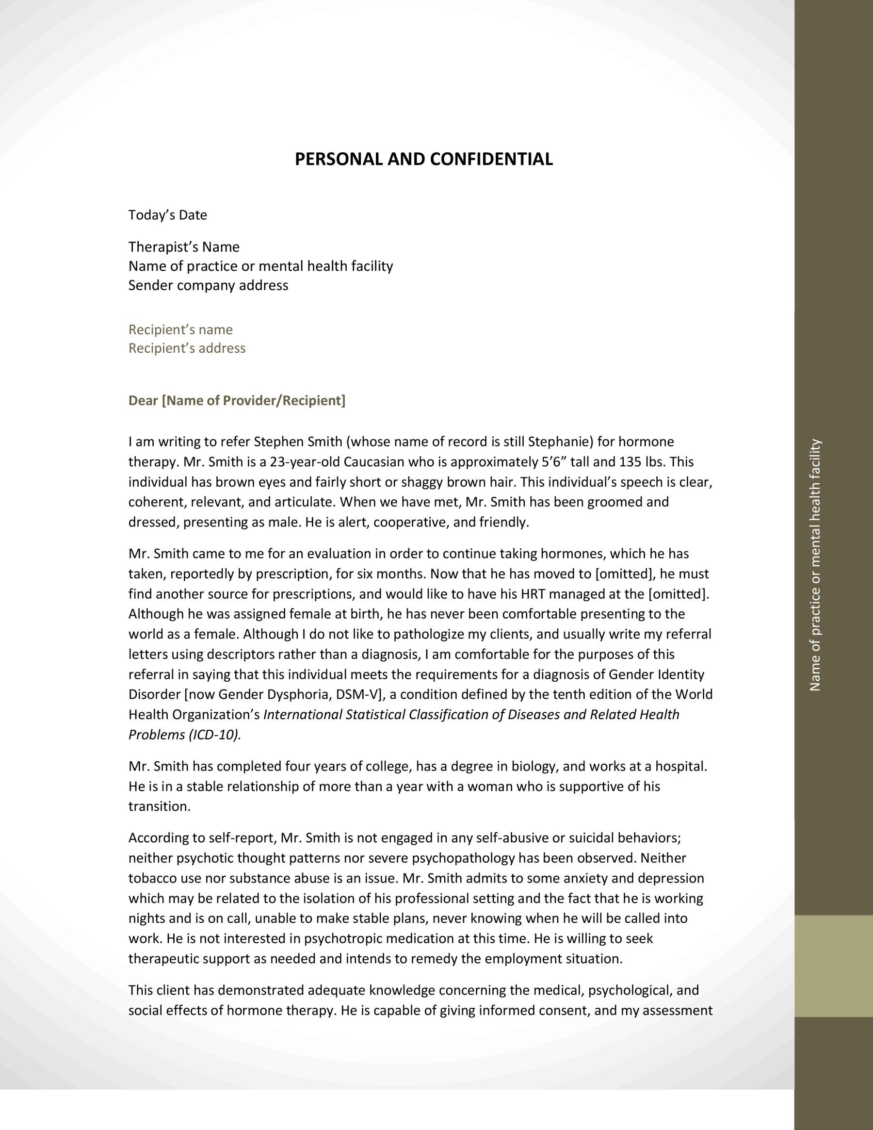 Company Referral Letter Fascinating Hrt Referral Letter Examplepage0  Mine  Pinterest  Referral .