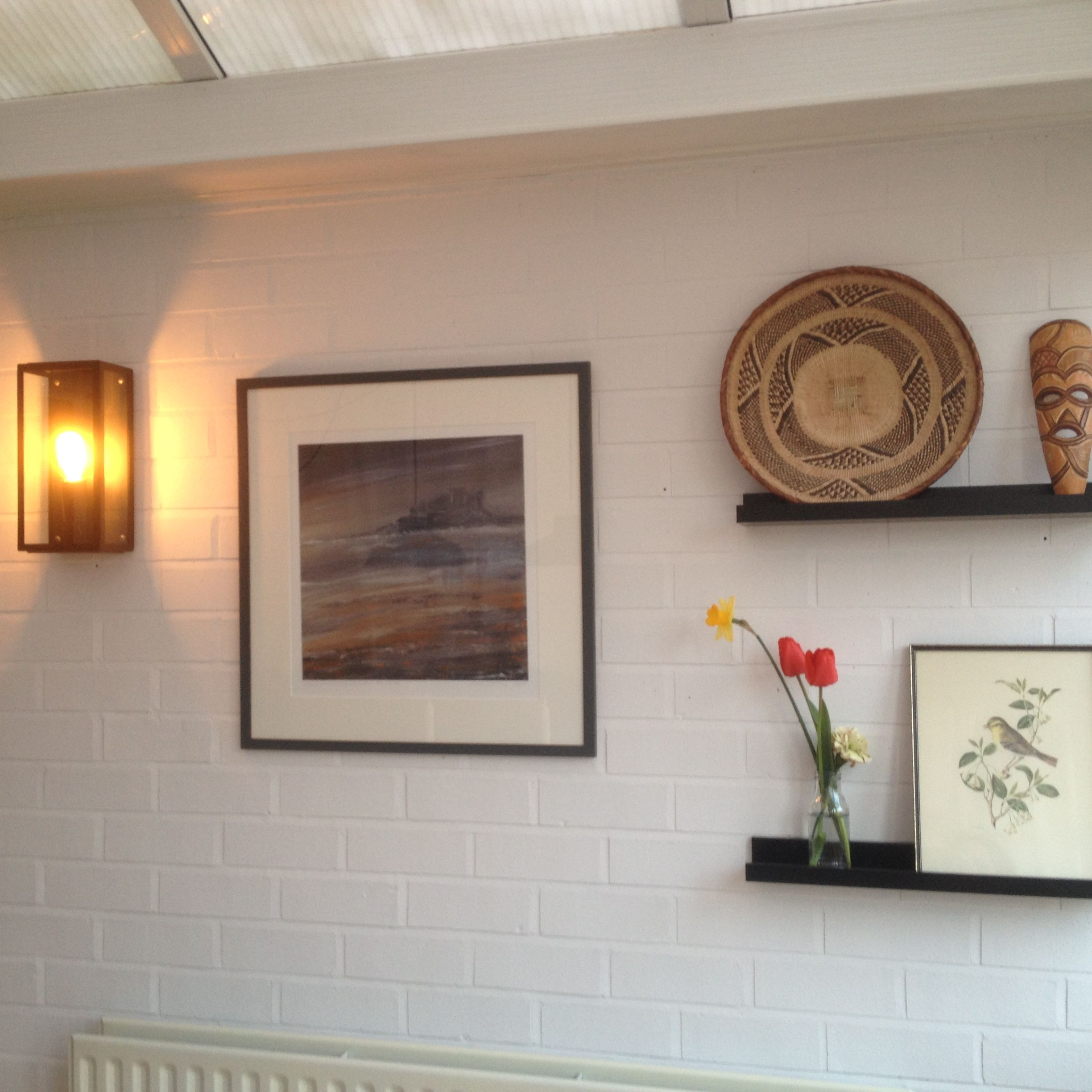 Painted Brick Wall In Conservatory Painted Using Wevet Colour Farrow And Ball Pinterest