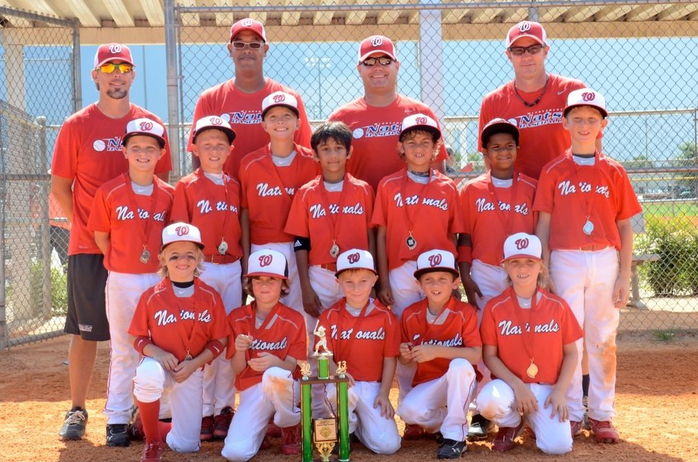 The Windermere Nationals 8under baseball team places