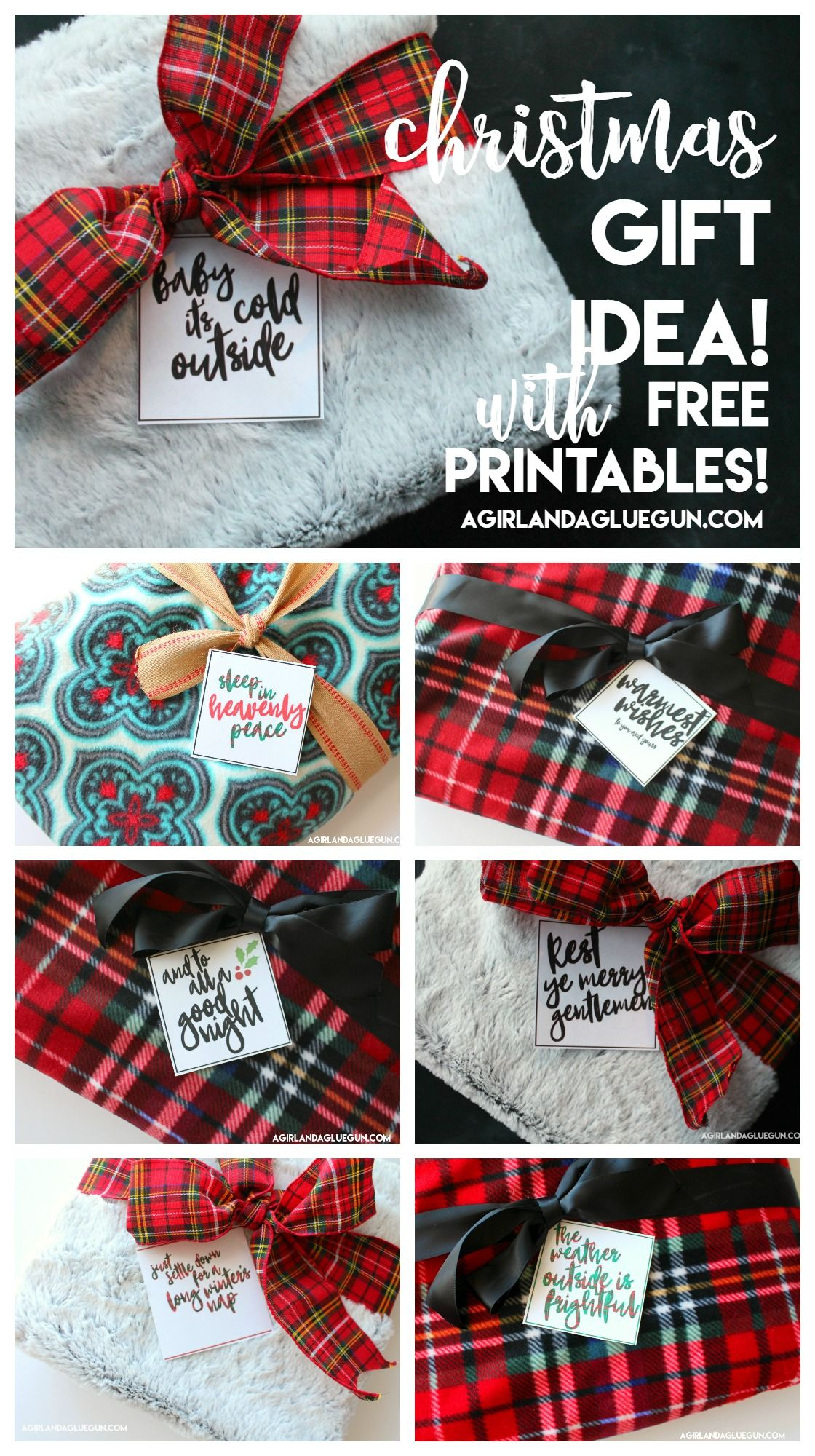 Easy neighbor gift with free printables! - A girl and a glue gun