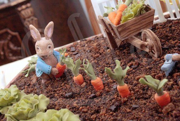 Peter is picking mr. McGregor's carrots