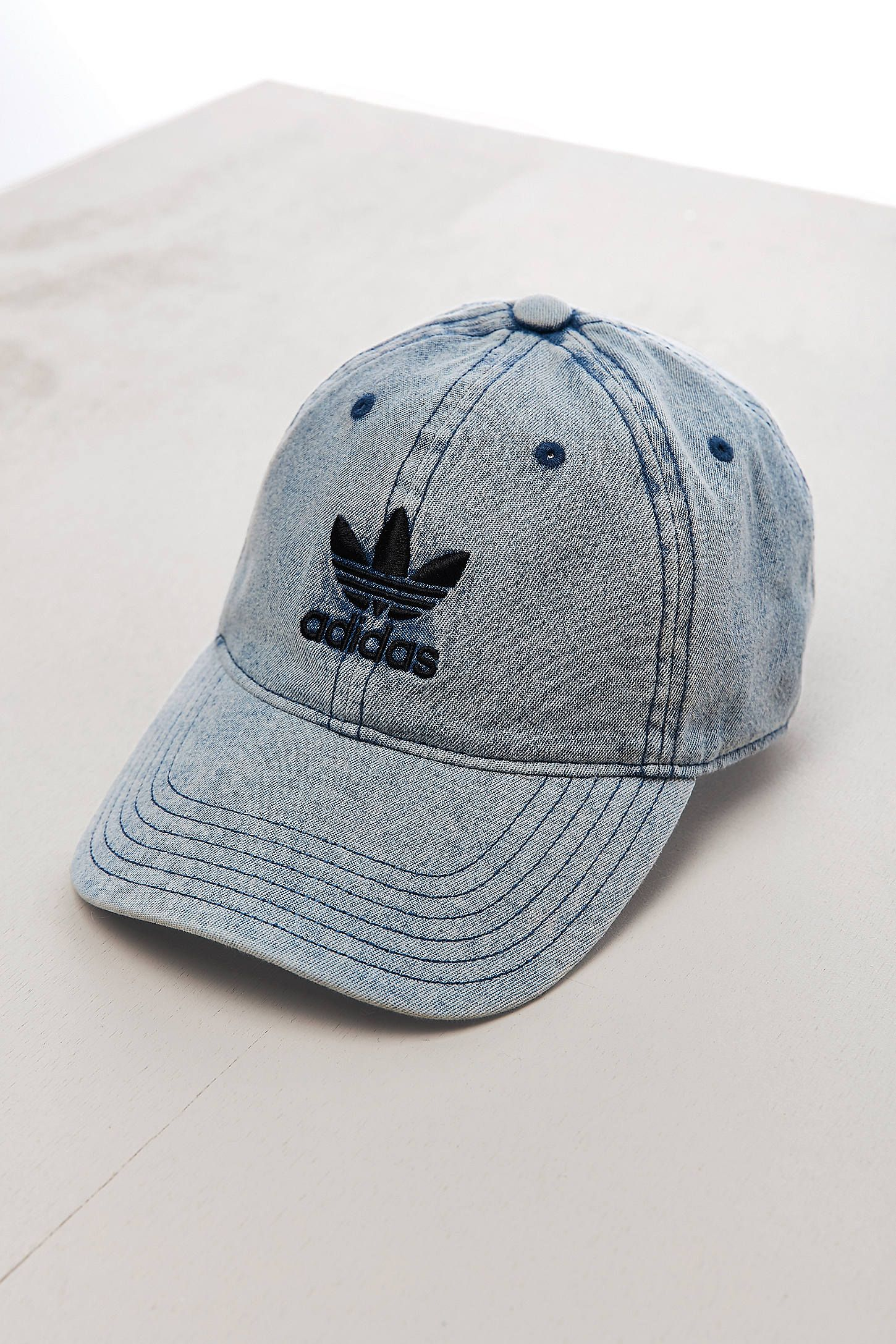 UO adidas Relaxed Denim Baseball Hat  8ec5c8506c5