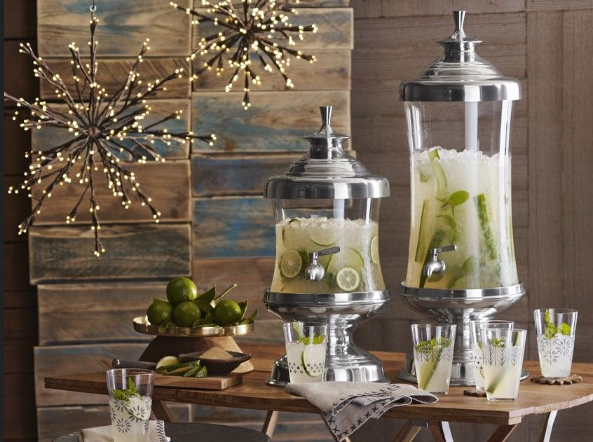 Sketch of Cheer Up Your Party with a Classy Glass Beverage Dispenser with Metal Spigot