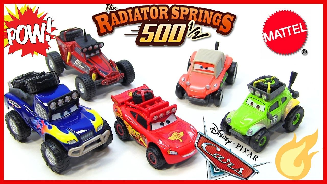 Off Road Lightning Mcqueen Cars Radiator Springs 500 1 2 Off Road Rally Race Track
