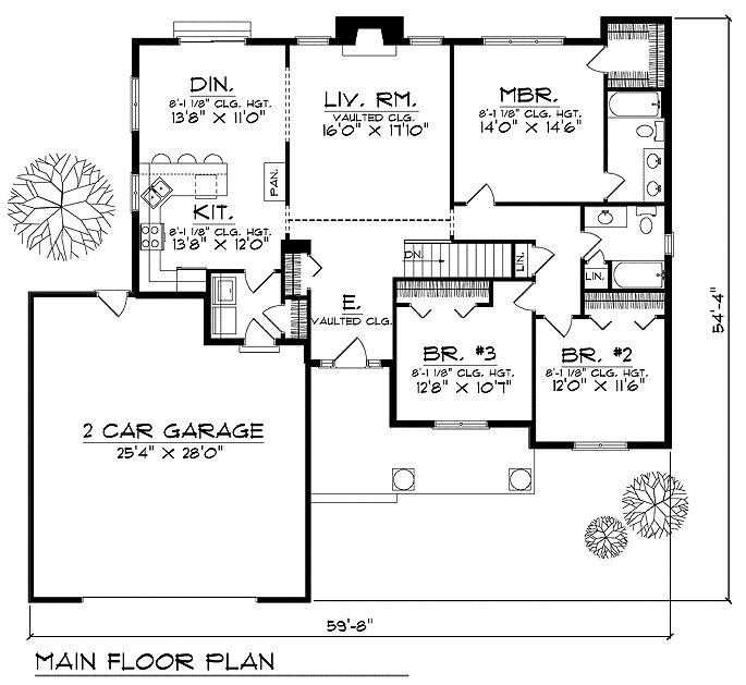 Unique custom house plans ranch house plans custom for Ranch house plans with bedrooms together