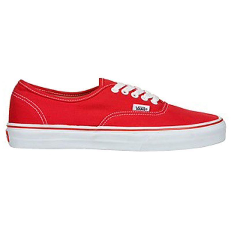 Réduction Ebay Dépêchez-vous Chaussures Vans Authentic rouges homme oLxSUSbPF