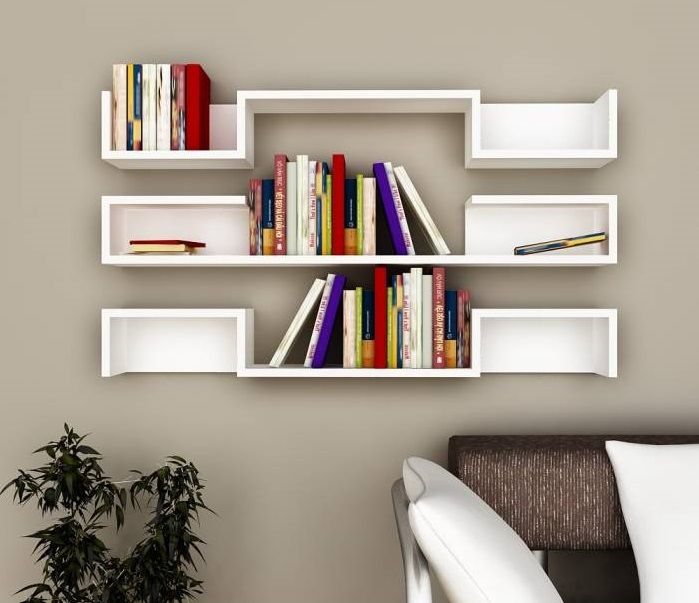 Beautiful Wall Book Shelves For Book Readers Id805 Modern