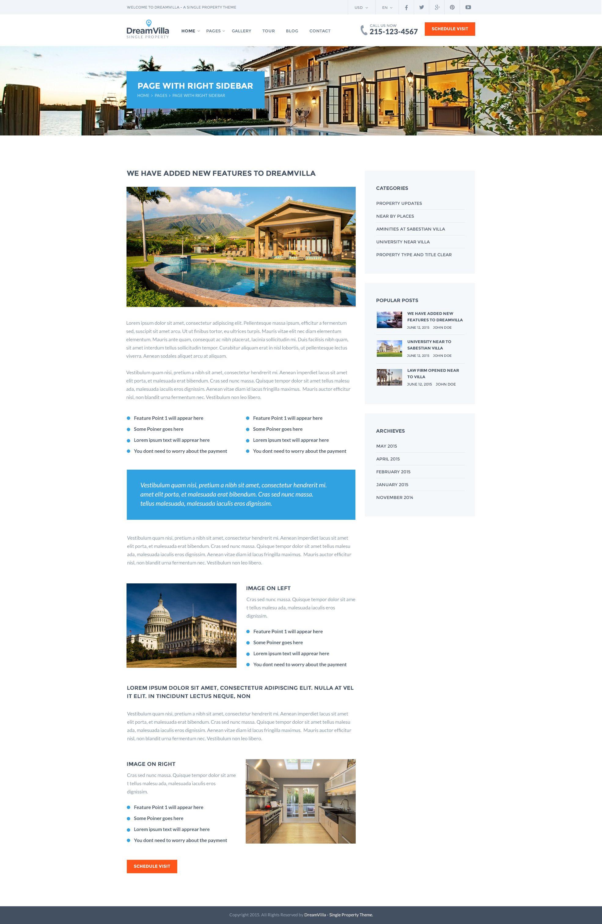 DreamVilla - Single Property HTML Template   Template