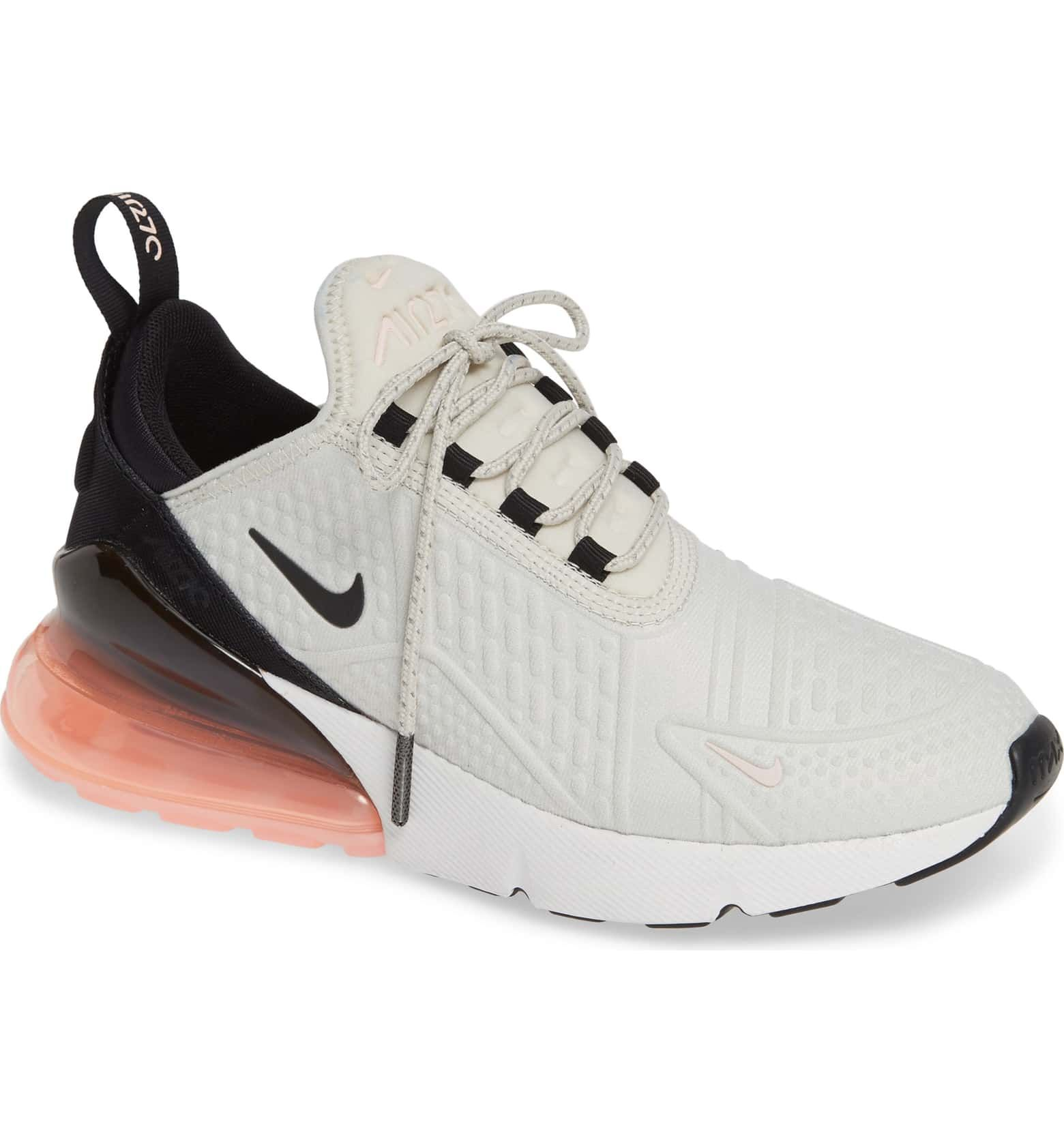 9c5e9fb3c5 Air Max 270 Premium Sneaker, Main, color, LIGHT BONE/ BLACK- PINK- WHITE