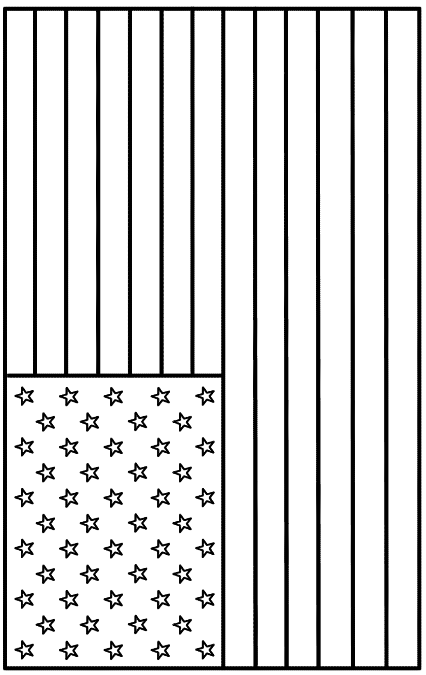american flag coloring page | Teaching | Pinterest