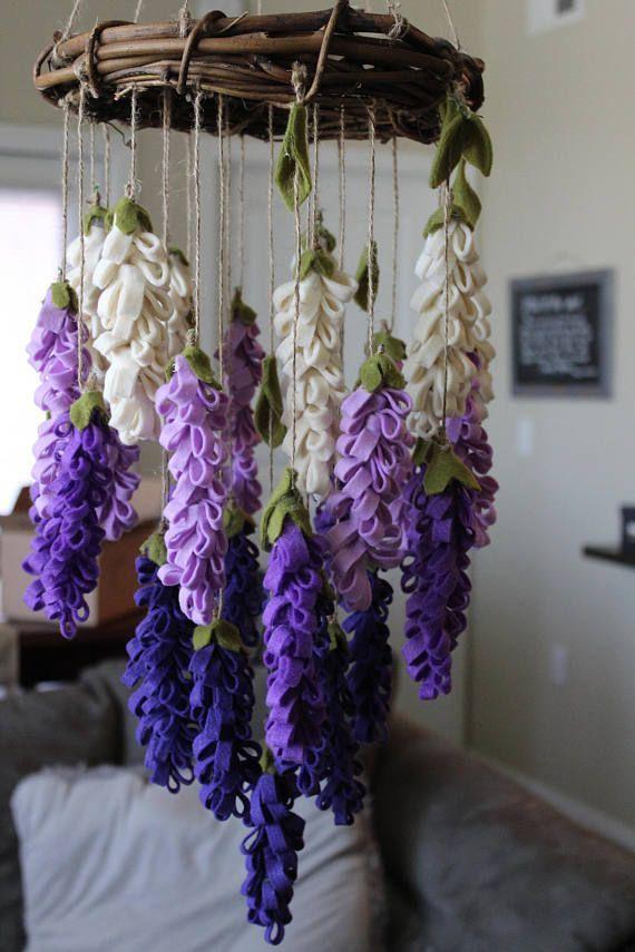 Purple Lavender Chandelier/ Mobile - Landrey Karger #eventideascreative