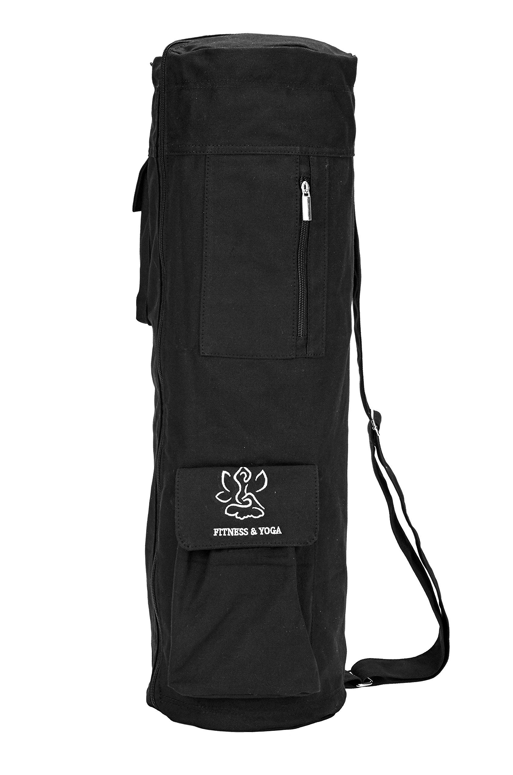 03ecd34eade8 Yoga Mat Bag Full-Zip Exercise Mat Carry Bag with Multi-Functional  Expandable Storage