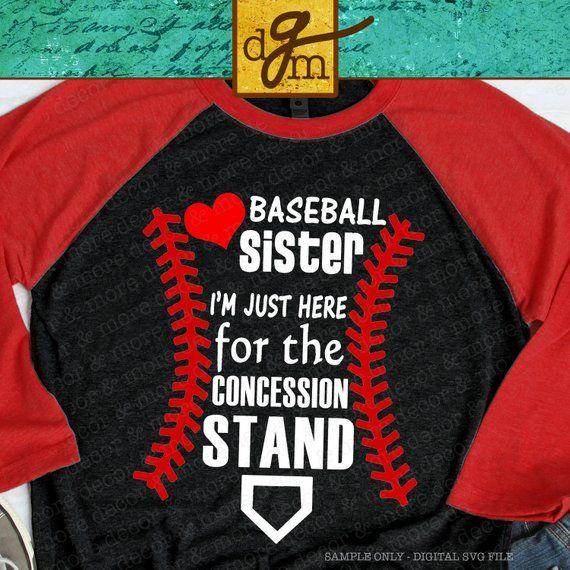 7bc21347bd1b0 BASEBALL SISTER SVG file, Baseball Svg for T shirts, Hats, Bags ...