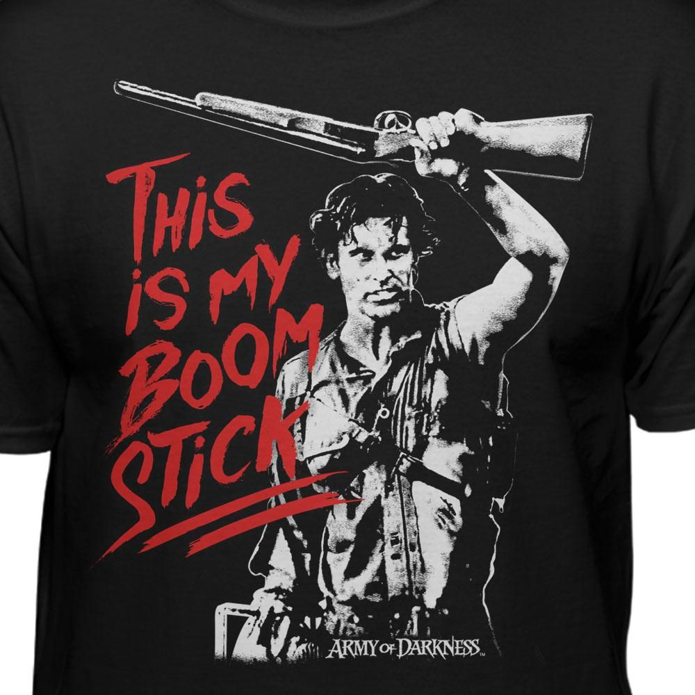 This Is My Boomstick T-shirt Army of Darkness Bruce Campbell Long Sleeve Tee