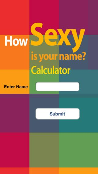 How sexy is your name calculator
