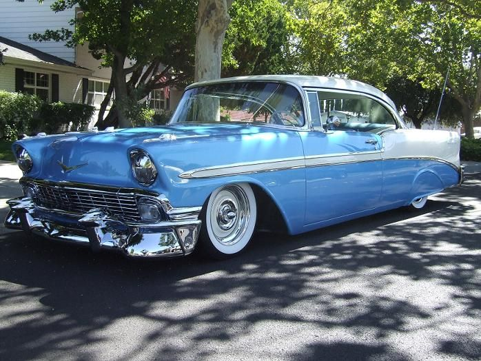 56 Chevy – love the wheel and tire combo, but don't care for the rear wheel skir…