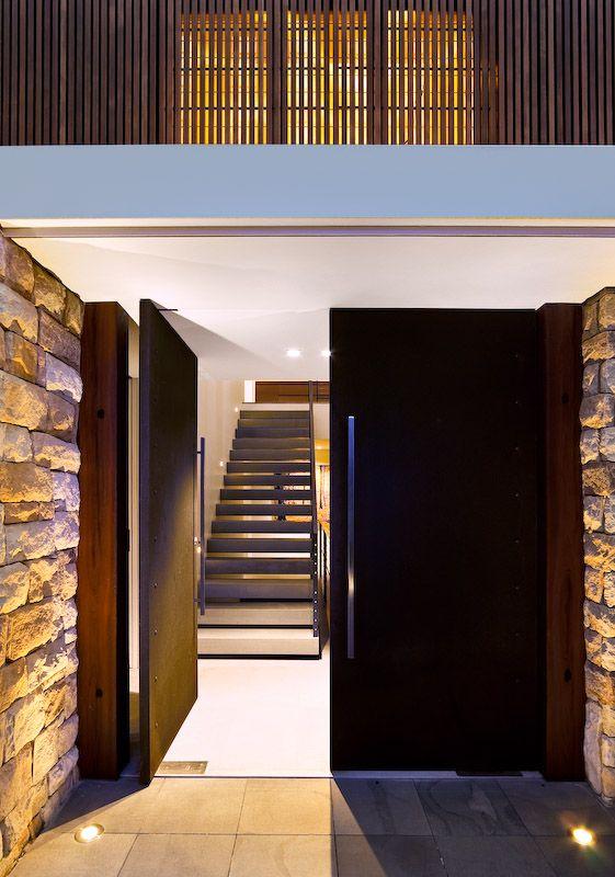 Mosman House   Corben Architects Entrada moderna, Entrada y Moderno - puertas de entrada
