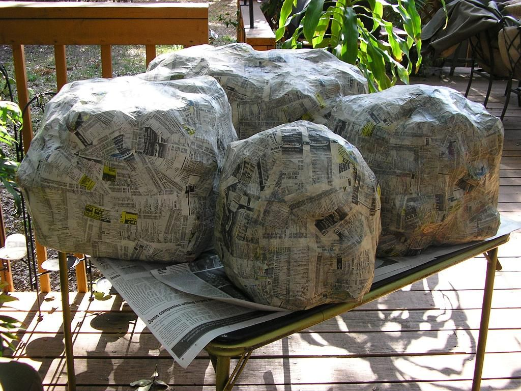 paper mache rocks decoupage and paper mach pinterest