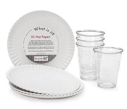 Its Not Paper resin plate and cups  sc 1 st  Pinterest & Its Not Paper resin plate and cups | Stuff I Like | Pinterest ...