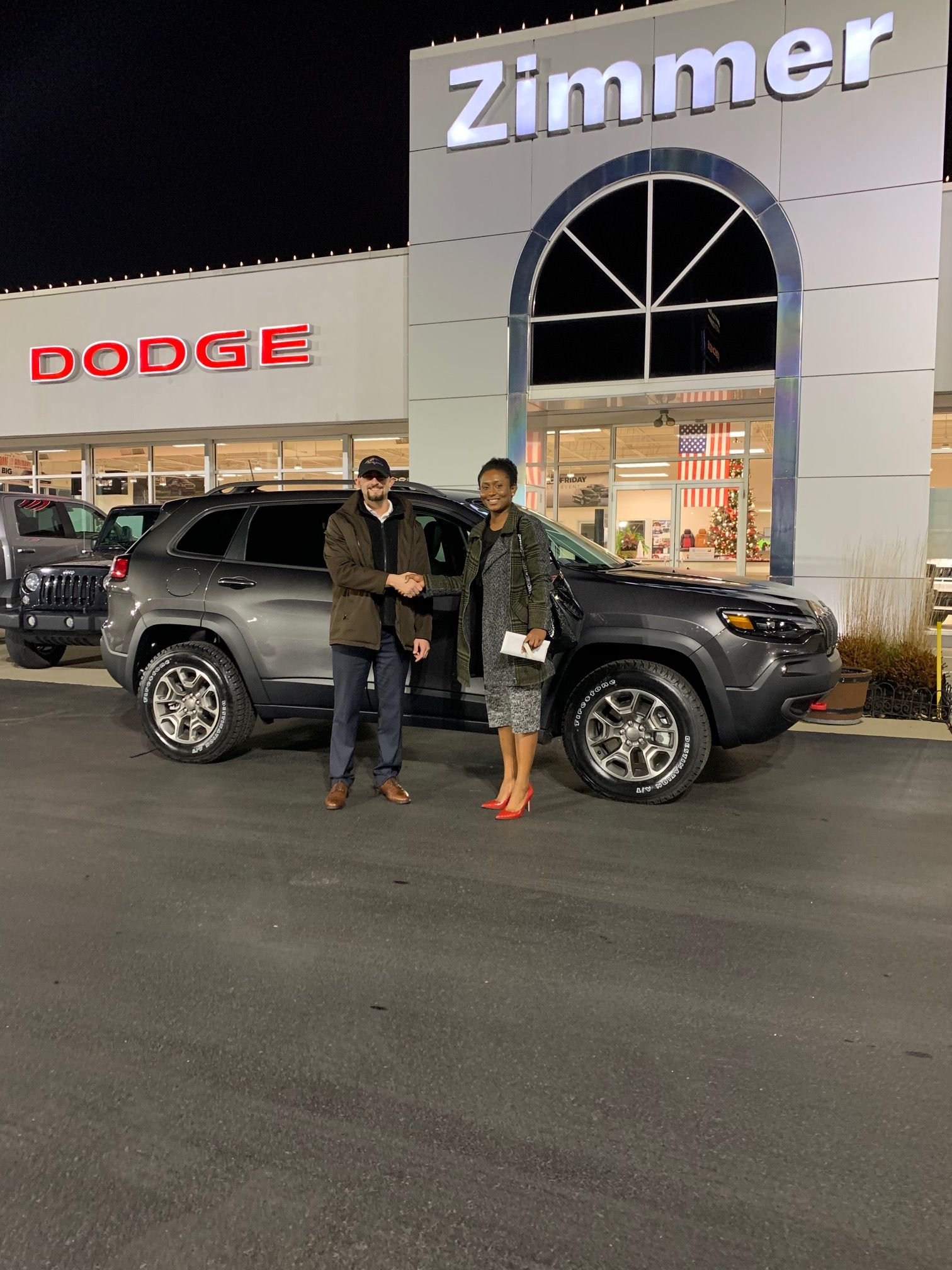Congratulations Are In Order For Tarah Remy She Was Ready To Take Advantage Of Jeep S Year End Pricing Chrysler Dodge Jeep Jeep Cherokee Trailhawk Jeep Dealer