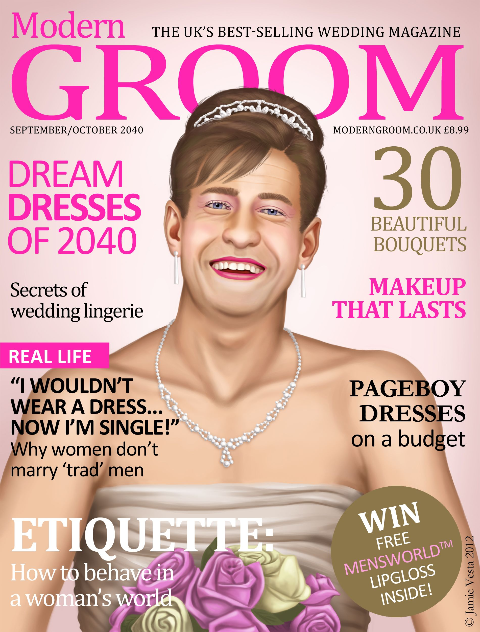 wedding magazines Modern groom When women became the dominant sex wedding magazines would never be the same again