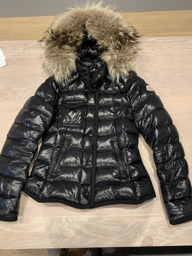 Moncler Ladies Armoise Coat Black Genuine Size 1 (UK