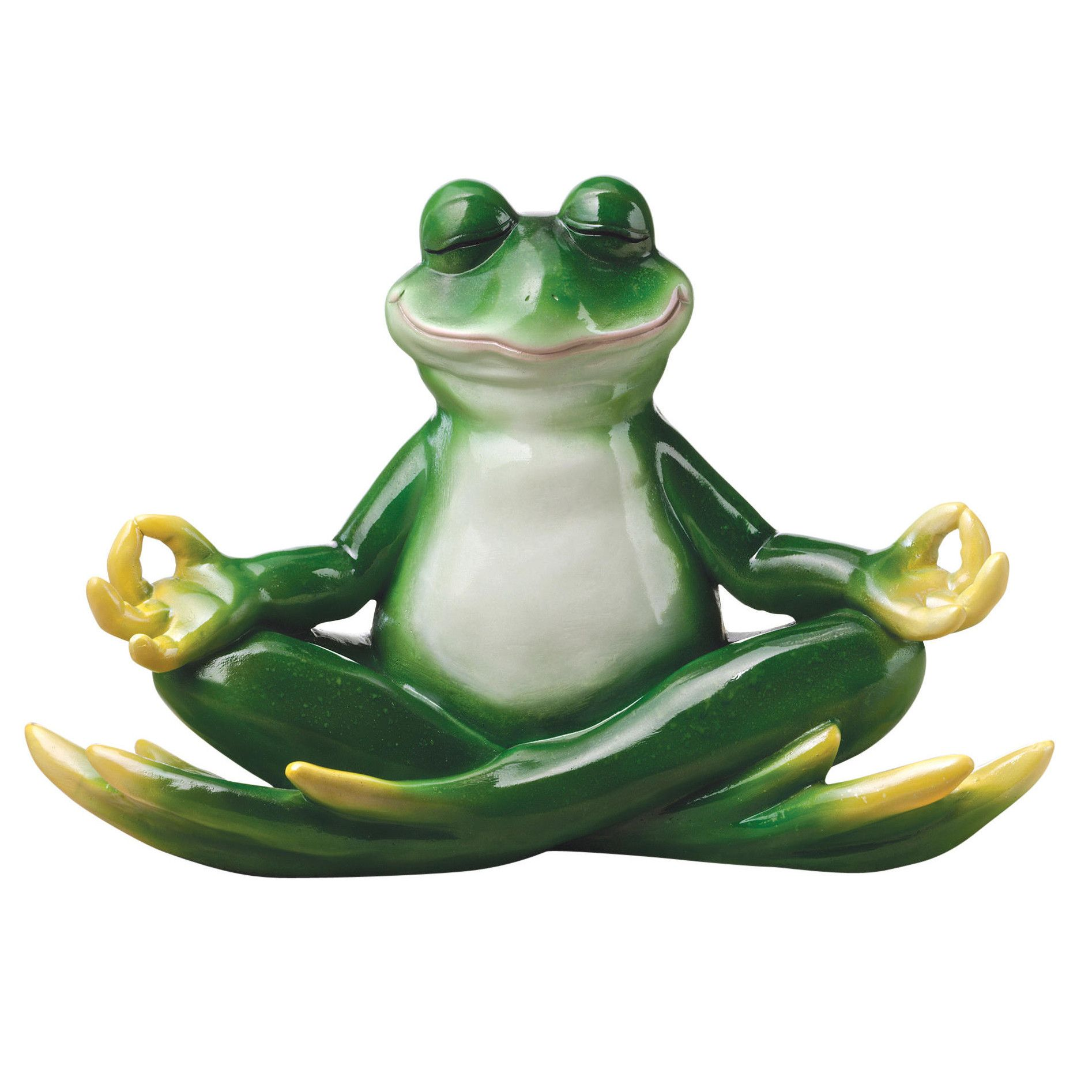 Meditating Frog Indoor Outdoor Statue Frog Statues Outdoor Statues Ceramic Frogs