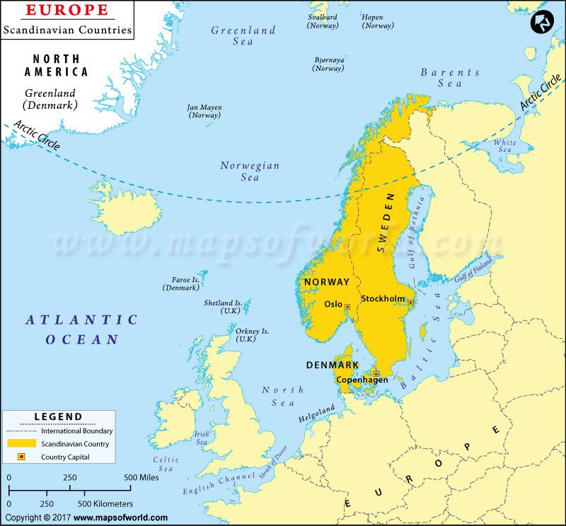 Scandinavian Countries Map Shows The Countries That Are Located In The Region Country Maps Scandinavian Countries Map