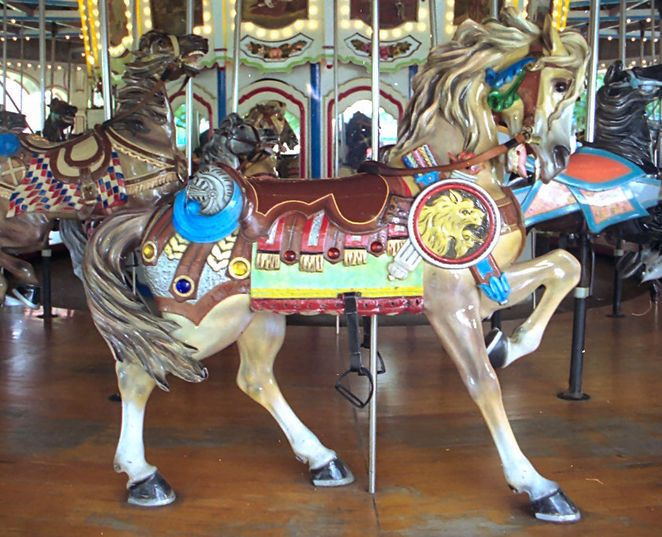 National Carousel Association - Kings Dominion Carousel - PTC #44 Outside Row Stander