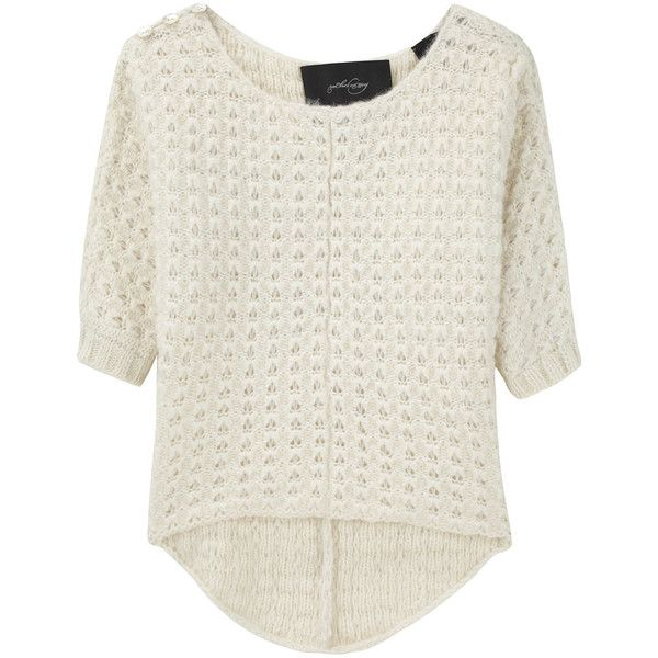 Rachel Comey / Butterfly Pullover (470 BRL) ❤ liked on Polyvore featuring tops, sweaters, women, boat neck sweaters, boat neck tops, pullover sweaters, buttoned boatneck sweater and butterfly top