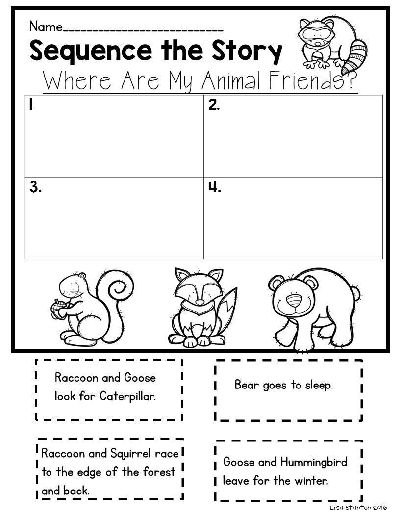 First Grade Sequencing Worksheets where are My Animal Friends Sequencing    Reading street [ 1056 x 816 Pixel ]