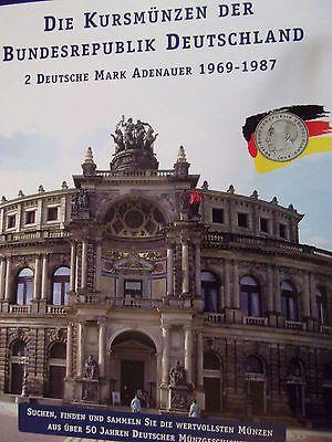 2 Dm Sammelalbumkursmünzen Der Brdadenauer Von 1969 1987 Inhalt 5