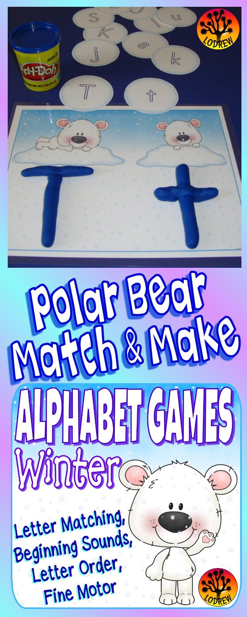 Winter Centers Alphabet Games Literacy Centers Winter Activities