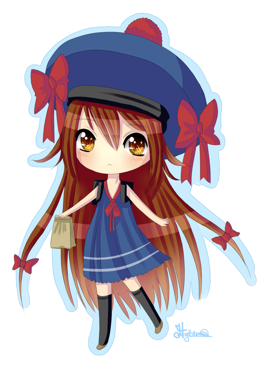 Chibi school girl Dessin, Personnage, Art digital