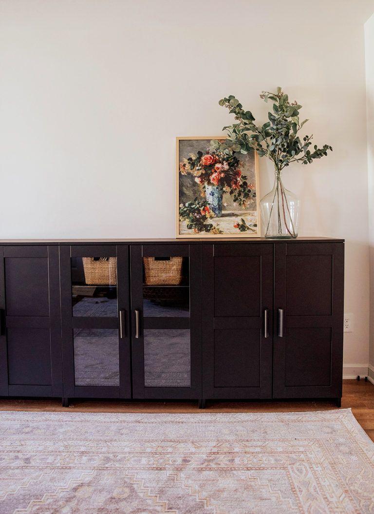 Living Room Design Ikea: Playroom/Toy Storage: IKEA Brimnes Cabinets