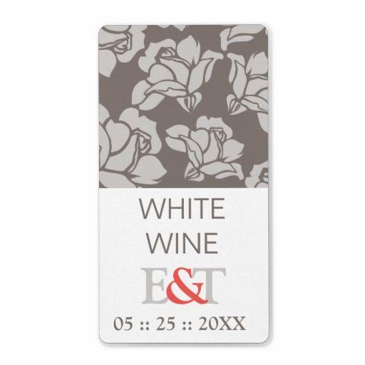 Rose Garden Wedding Favor Wine Labels