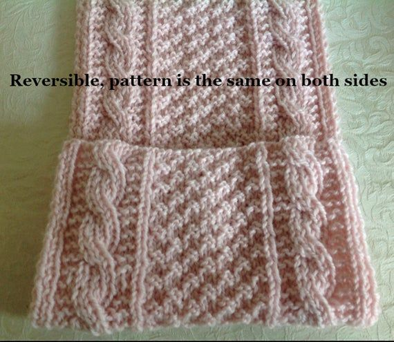 Scarf Knitting Pattern Reversible Cables And Box Stitches Scarf Knitting Patterns Knitting Patterns Knit Scarf