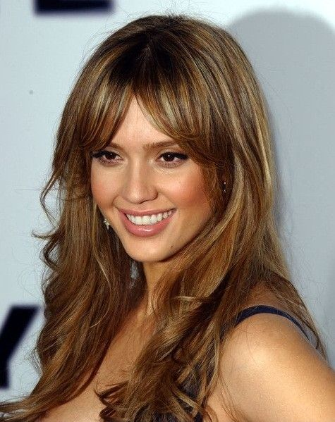 Blonde And Caramel Highlights For Brown Hair Dont Care Love Those Bangs