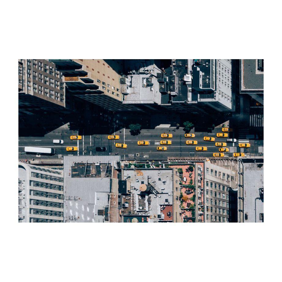 Leinwandbild New York City Taxis - Grau / Gelb, ars manufacti Jetzt ...