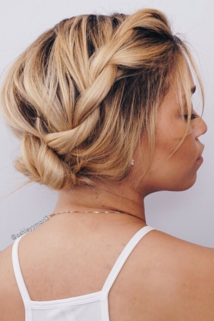 spring updo, summer updo, hairstyles for short hair, easy hairstyles ...
