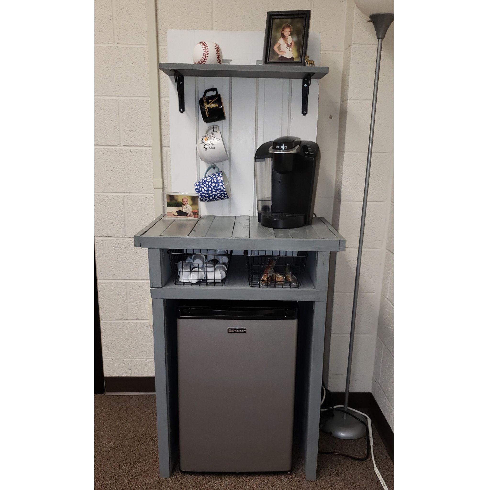 diy small fridge cabinet