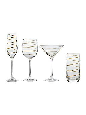 6aa5f5ed3d5 The whole gold swirl glasses set love it House of Fraser | My house ...