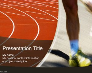 Free running track powerpoint template with orange color sport free running track powerpoint template with orange color toneelgroepblik Image collections