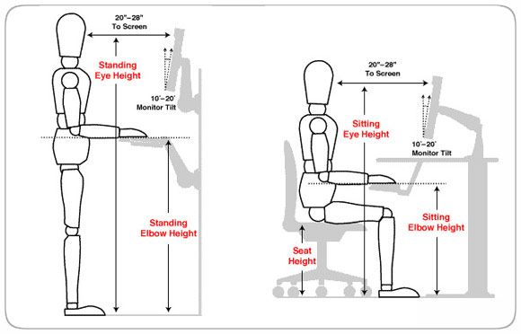 Address Those Tight Hip Flexors Standing Desk Ergonomics Ergonomics Best Standing Desk