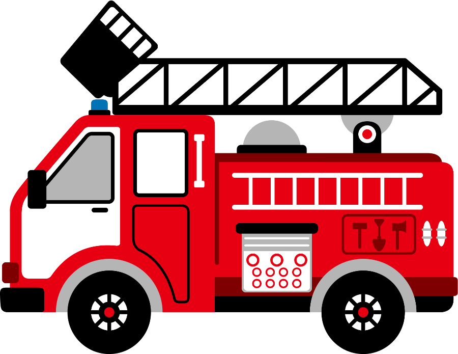 Cartoon Clip Art Firetruck Emergency Vehicle Truck Standing Photo ...