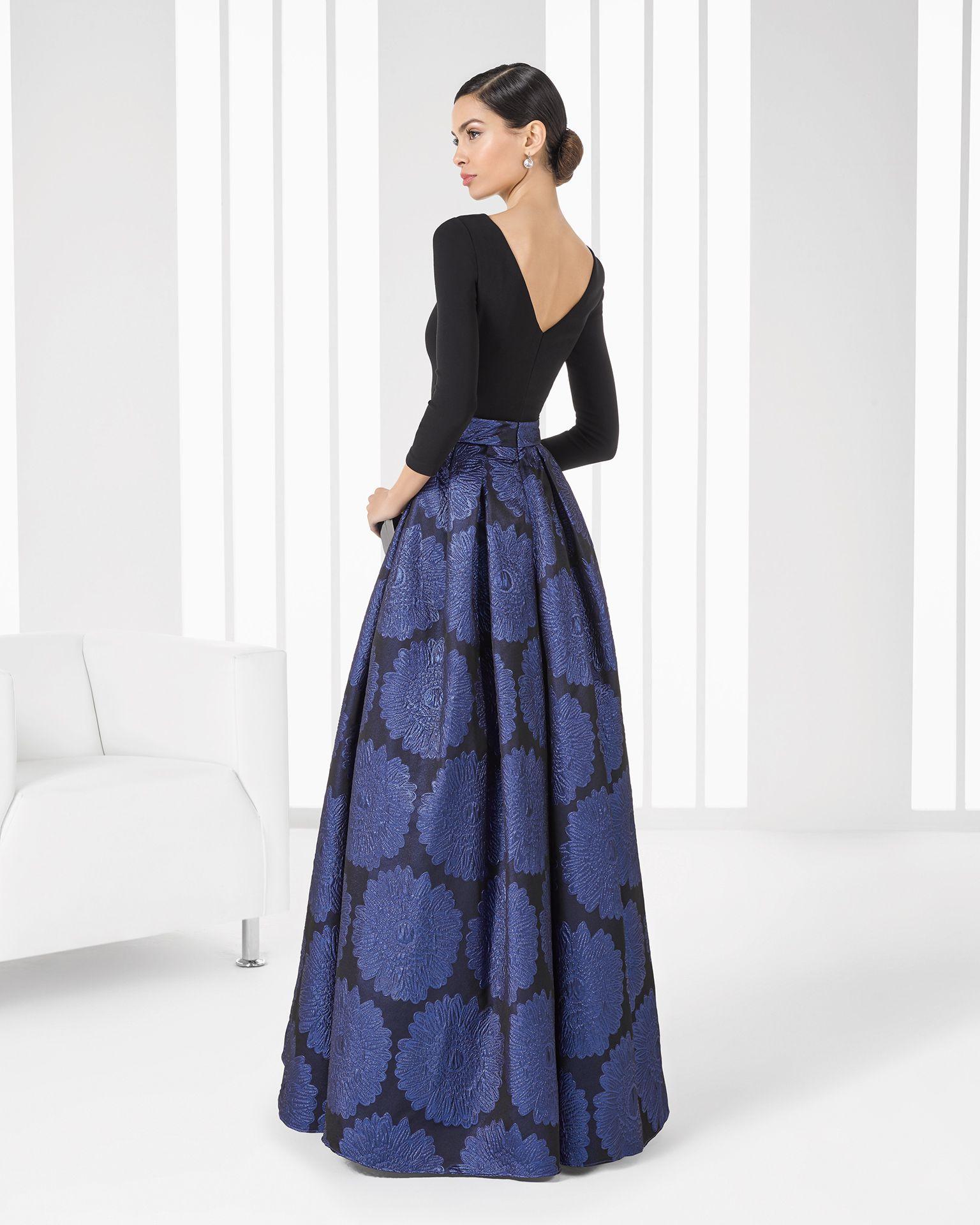 cdd9d06930 9T137 vestido de brocado y crepe. Elegant Cocktail Dress
