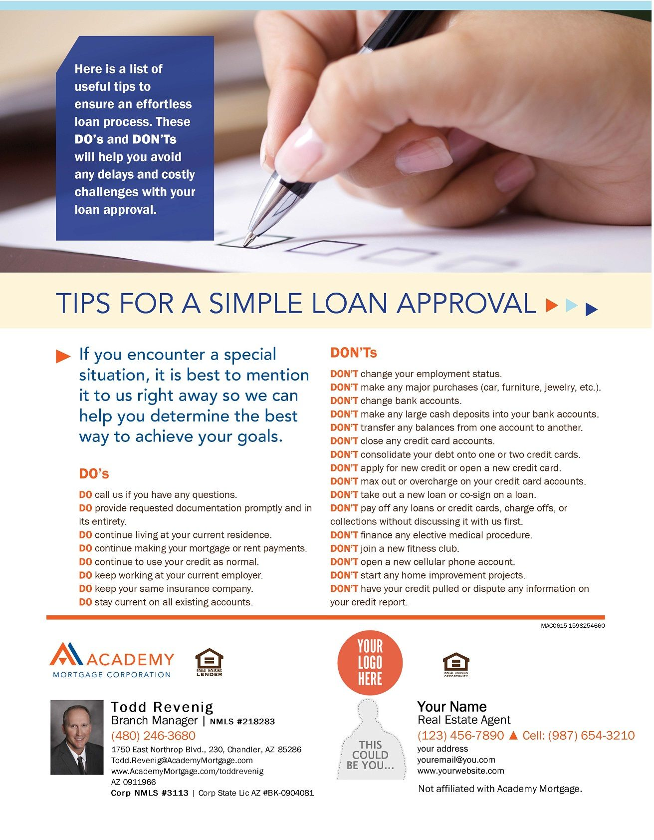 Tips For A Simple Loan Approval Co Branded Helpful Hints Real Estate Information How To Apply