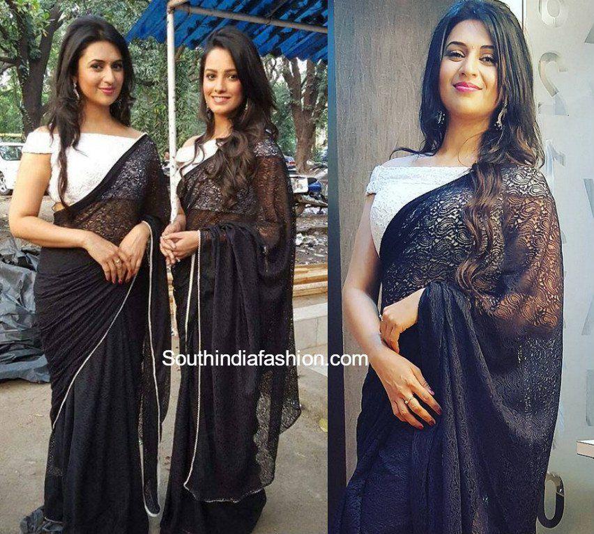 c95cd768572549 Divyanka Tripathi aka Ishita Bhalla Saree blouse designs in Yeh Hai  Mohabbatein serial